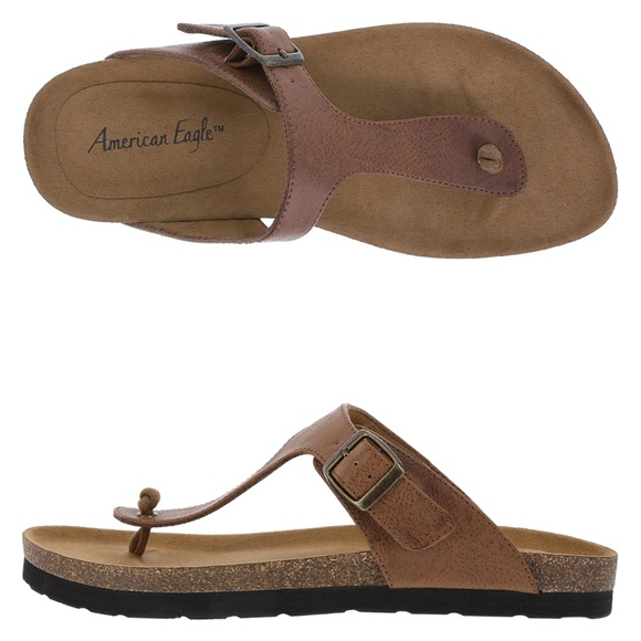56f19fe957892 American Eagle By Payless Shoes - American Eagle Sage Flat Brown Sandal 9